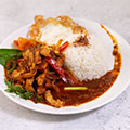 Belacan Chicken with Rice